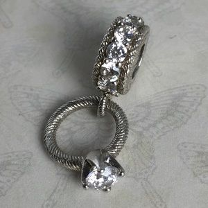 Judith Ripka Sterling Silver 925 Ring Charm RARE